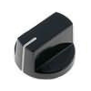 Knoflík s ukazatelem bakelit pro hřídel 6,35mm Ø26x15,4mm