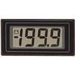 Panelové měřidlo LCD 3,5místný 12,5 mm V DC:0-200mV 45x23mm