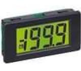Panelové měřidlo LCD 3,5místný 11 mm V DC:0-200mV