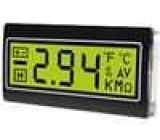Panelové měřidlo LCD 3,5místný 10mm Barva podsv