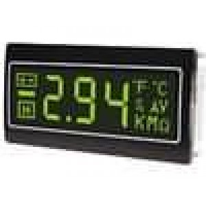 Panelové měřidlo LCD 3,5místný 14 mm, negativní 72x36mm