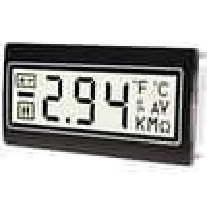 Panelové měřidlo LCD 3,5místný 14 mm Barva podsv bílá
