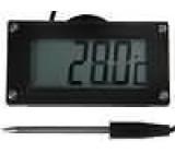 Panelové měřidlo LCD 3,5místný 19 mm -50-.150°C Rozliš:0,1°C