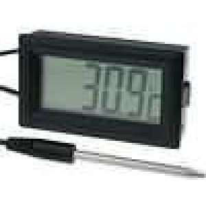 Panelové měřidlo LCD 3,5místný 19 mm -50-.300°C kabel 1m