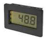 Panelové měřidlo LCD 3,5místný 13 mm V DC:0-200mV 44x68x15mm