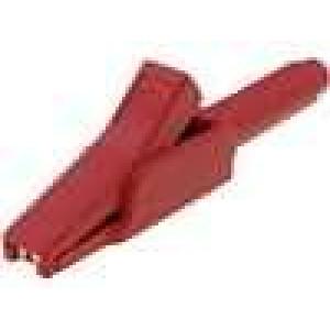 Krokosvorka 15A červená - rozsah uchopení max 6mm 300V