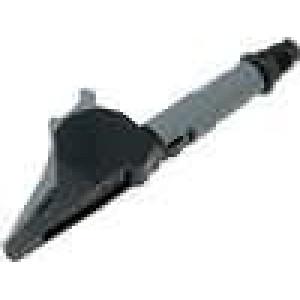 Krokosvorka 20A černá - rozsah uchopení max 41mm 1kV 20mΩ