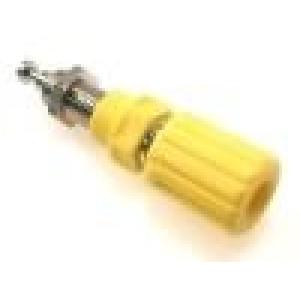 Zásuvka banánek 4mm 36A průměr Ø8mm   niklovaný povrch