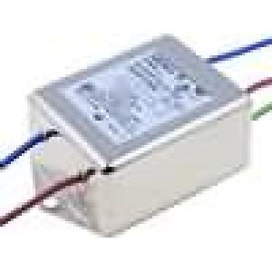 Filtr odrušovací 250VAC Iprac.max:10A s vodičem Ir:0,38mA
