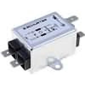 Filtr odrušovací 250VAC 0,4mH Cx:15nF Cy:2,2nF 10A -25-100°C