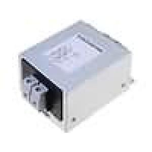 Filtr odrušovací 250VAC 0,4mH Cx:100nF Cy:1,5nF 1MΩ 10A