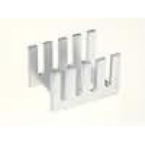 Chladič lisovaný U TO202,TO220 L:19,05mm W:13,21mm H:12,7mm