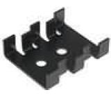 Chladič lisovaný SOT32,TO220 černá L:30mm W:25,4mm H:8mm