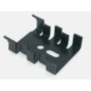 Chladič lisovaný SOT32,TO220 černá L:33mm W:25,4mm H:8mm