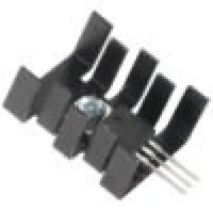 Chladič lisovaný SOT32,TO220 černá L:30mm W:25,4mm H:13mm