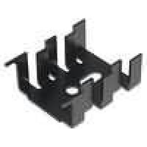 Chladič lisovaný SOT32,TO220 černá L:33mm W:25,4mm H:13mm