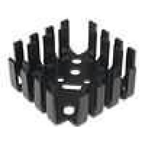 Chladič lisovaný SOT9,TO3,TO66 černá 42x42x17mm 6,8K/W