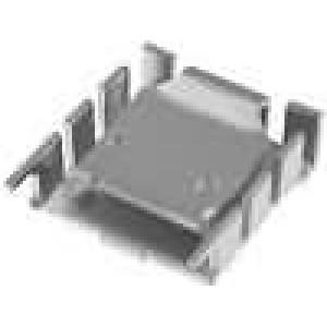 Chladič lisovaný TO218,TO220 L:25,4mm W:25mm H:8,3mm 18K/W