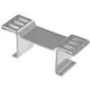 Chladič lisovaný D2PAK, TO263 L:8mm W:26mm H:10mm 29,3K/W měď