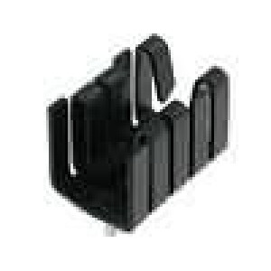 Chladič lisovaný TO220 černá L:19mm W:12,7mm H:12,7mm 21K/W