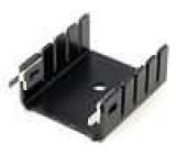 Chladič lisovaný U TO220 černá W:25,4mm H:12,7mm 13K/W