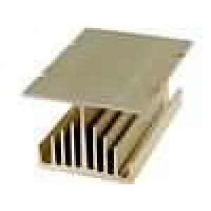 Chladič lisovaný Y pro třífázová relé zlatá L:100mm W:75mm