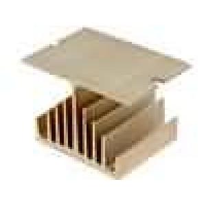 Chladič lisovaný Y pro jednofázová relé zlatá L:50mm W:75mm