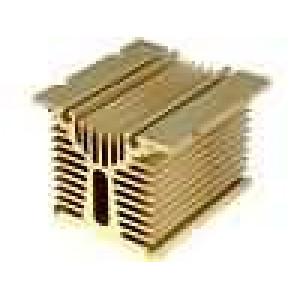 Chladič lisovaný Y pro třífázová relé zlatá L:104mm W:100mm
