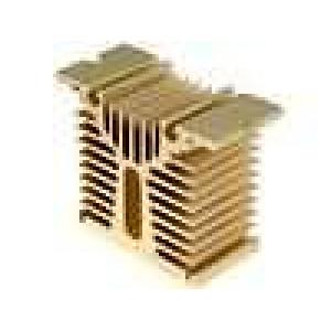 Chladič lisovaný Y pro jednofázová relé zlatá L:45mm W:100mm