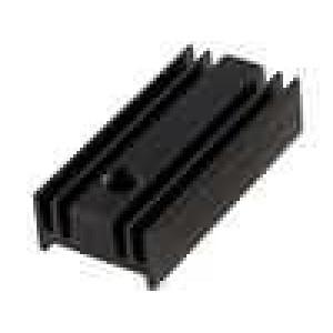 Chladič lisovaný TO220 černá L:25,4mm W:10,4mm H:6,5mm 40K/W