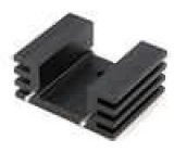 Chladič lisovaný TO220 černá L:25,4mm W:32mm H:14mm 13K/W