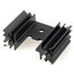 Chladič lisovaný TO220 černá L:25,4mm 12,6K/W hliník