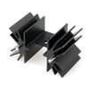Chladič lisovaný TO220 černá L:25,4mm 7,1K/W hliník