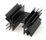 Chladič lisovaný TO220 černá L:38,1mm 6,2K/W hliník