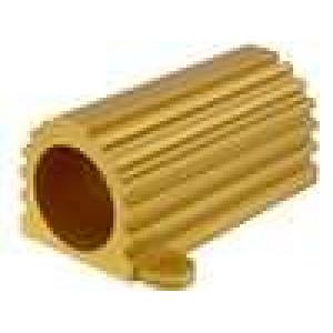 Chladič odlévaný pro rezistor zlatá L:88,9mm W:46,02mm 100W
