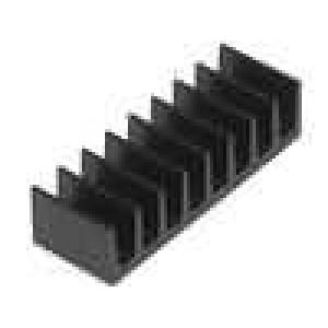 Chladič lisovaný černá L:6,3mm W:19mm H:4,8mm 50K/W hliník