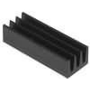 Chladič lisovaný černá L:19mm W:6,3mm H:4,8mm 46K/W hliník