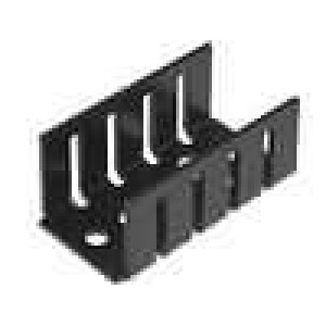 Chladič lisovaný TO220 černá L:35mm W:18,5mm H:15mm 15K/W