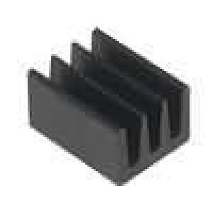 Chladič lisovaný černá L:8,5mm W:6,3mm H:4,8mm 83K/W hliník