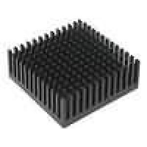 Chladič lisovaný černá L:43,1mm W:43,1mm H:16,51mm hliník