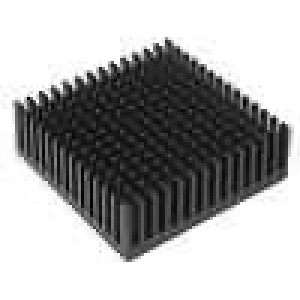 Chladič lisovaný černá L:48,3mm W:48,3mm H:16,51mm hliník