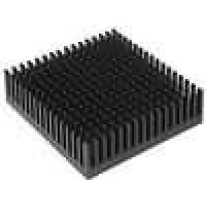 Chladič lisovaný černá L:53,3mm W:53,3mm H:16,51mm hliník