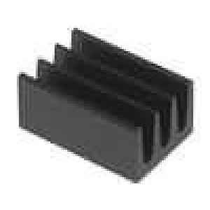 Chladič lisovaný černá L:10mm W:6,3mm H:4,8mm 75K/W hliník