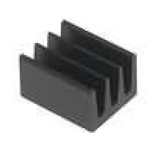 Chladič lisovaný černá L:8mm W:6,3mm H:4,8mm 87K/W hliník