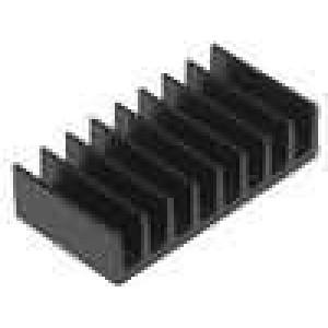 Chladič lisovaný černá L:10mm W:19mm H:4,8mm 35K/W hliník