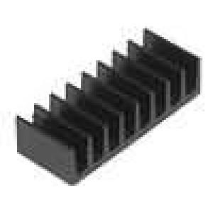 Chladič lisovaný černá L:7mm W:19mm H:4,8mm 47K/W hliník