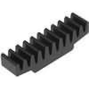Chladič lisovaný černá L:7mm W:30mm H:7,5mm 33K/W hliník