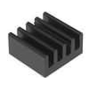 Chladič lisovaný černá L:15,3mm W:15,3mm H:8mm 27K/W hliník