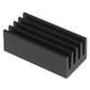 Chladič lisovaný černá L:17mm W:8mm H:6mm 42K/W hliník