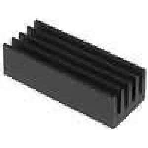 Chladič lisovaný černá L:21mm W:8mm H:6mm 33K/W hliník